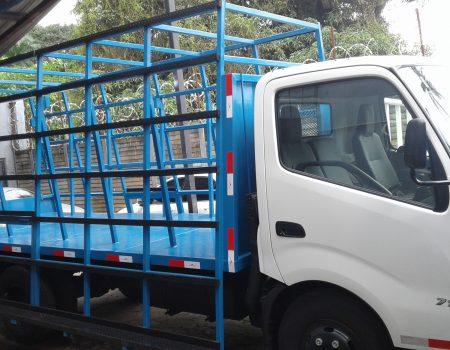 Estructura especial para transportar vidrios